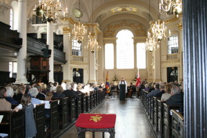 A full house at St Martin-in-the-Fields.