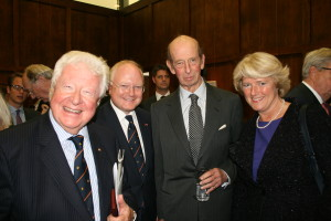 At the reception, from left to right: BGA President The Lord Watson of Richmond; our Chairman Stephen Watson; HRH The Duke of Kent, our Patron; and Prof. Monika Grütters - the Minister of State for Culture and Media in Germany.