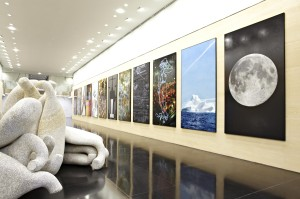 Deutsche Bank London reception featuring artworks by Keith Tyson and Tony Cragg large