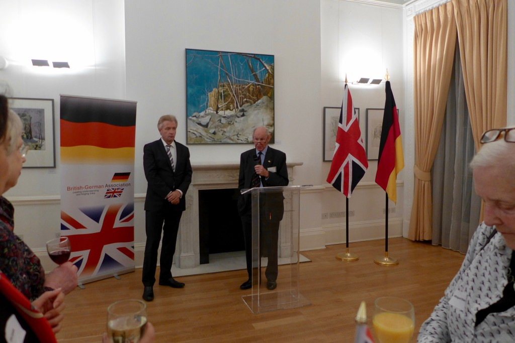 HE The German Ambassador with John Hobley Vice-Chairman BGA